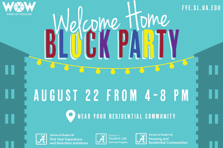 Welcome Home Block Party Ad